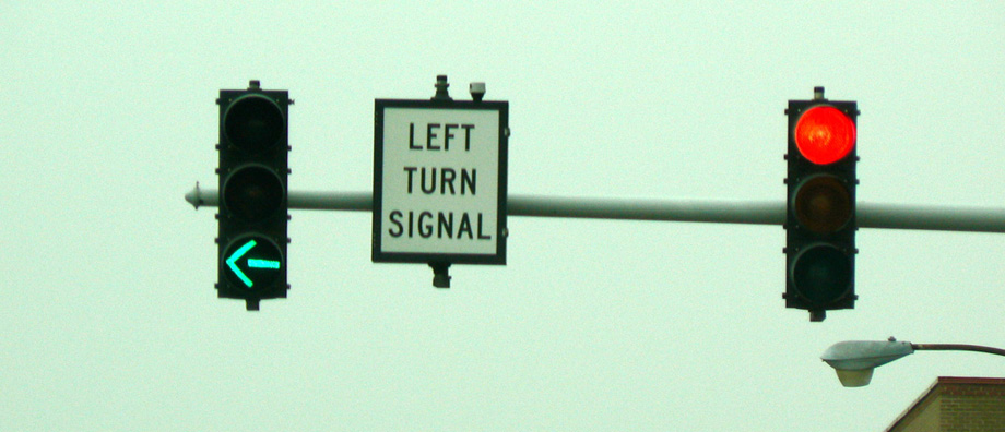 Left turn green arrow signal