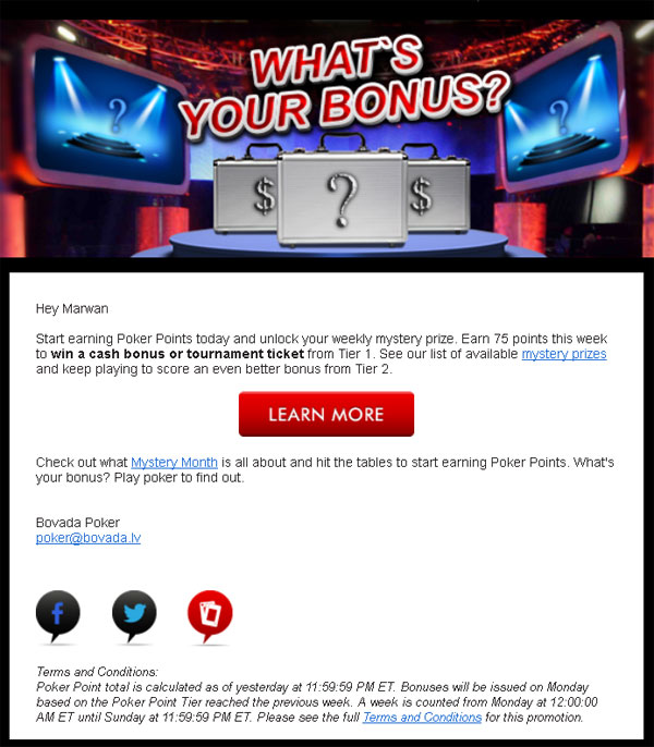 Bovada Poker Mystery Month Bonus Money And Tournament